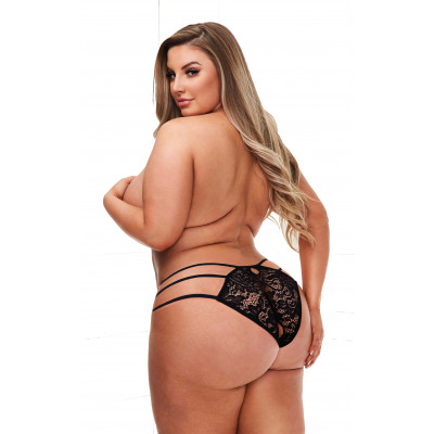 Plus Size Lace Panty with Triple Straps