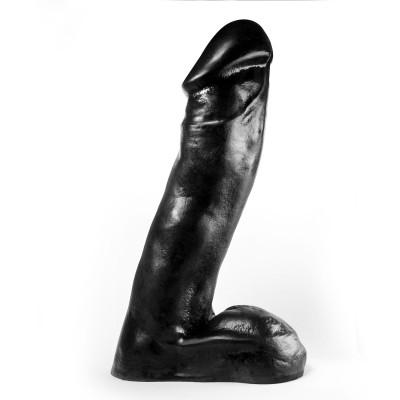 Dark Crystal XXL Black Vinyl Dildo 38 cm x 8 cm