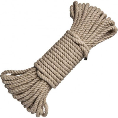 Bondage Natural Hemp Rope with metal head 20 meters